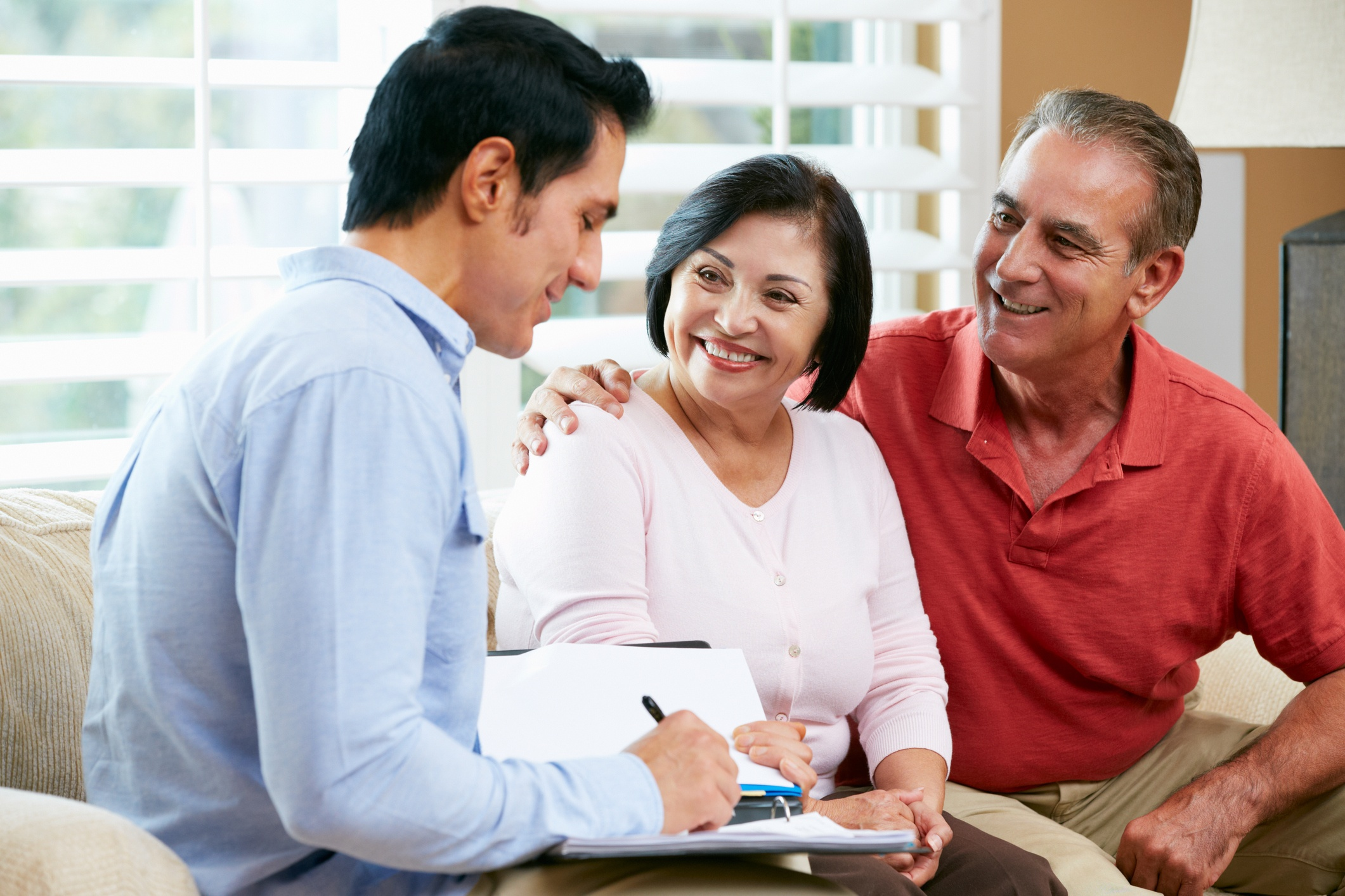 older couple discussing their estate plan